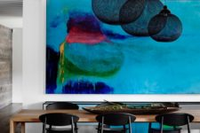 20 the main statement and eye-catcher of this space is the bold artwork