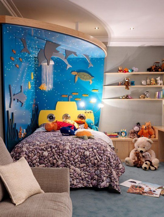 a whimsical kids' space inspired by the favorite animated movie