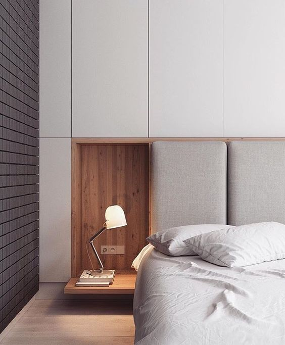 hidden storage cabinets and even nightstands that can be hidden back in the wall