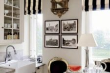23 a breakfast nook looking like a Paris bistro with a crystal chandelier and vintage chairs with gilded frames