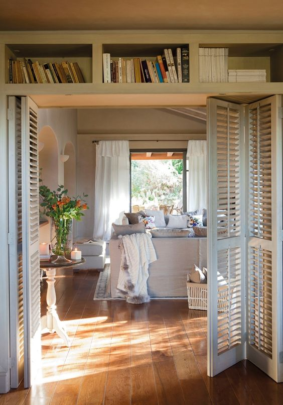 bifold shutter doors to add a country feel to your home and make it more relaxed
