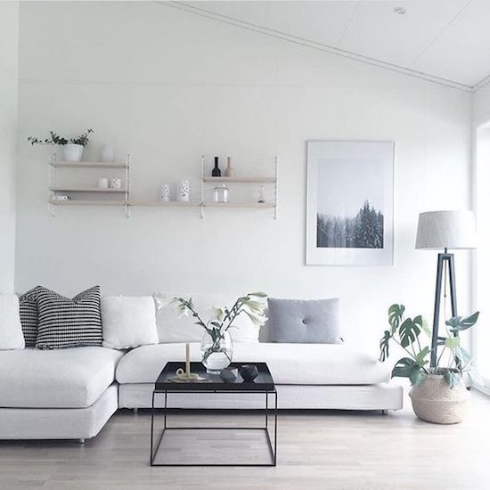 enough negative space is what you need to create an airy and light feeling in the space