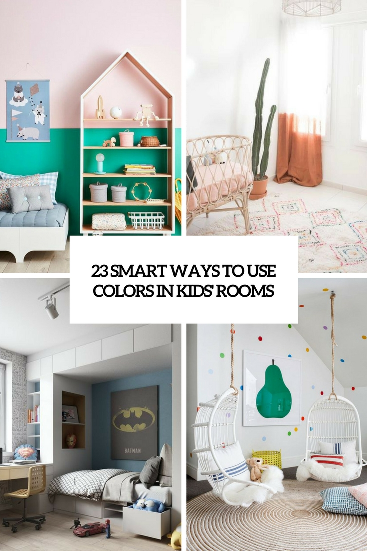 smart ways to use colors in kids rooms cover