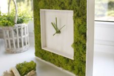 25 a stylish moss framed clock is a great idea for a modern space, it will refresh the space