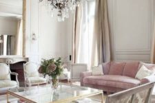 25 a vintage chandelier and some refined chairs create a fantastic ambience