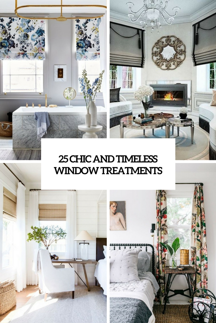 25 Chic And Timeless Window Treatments