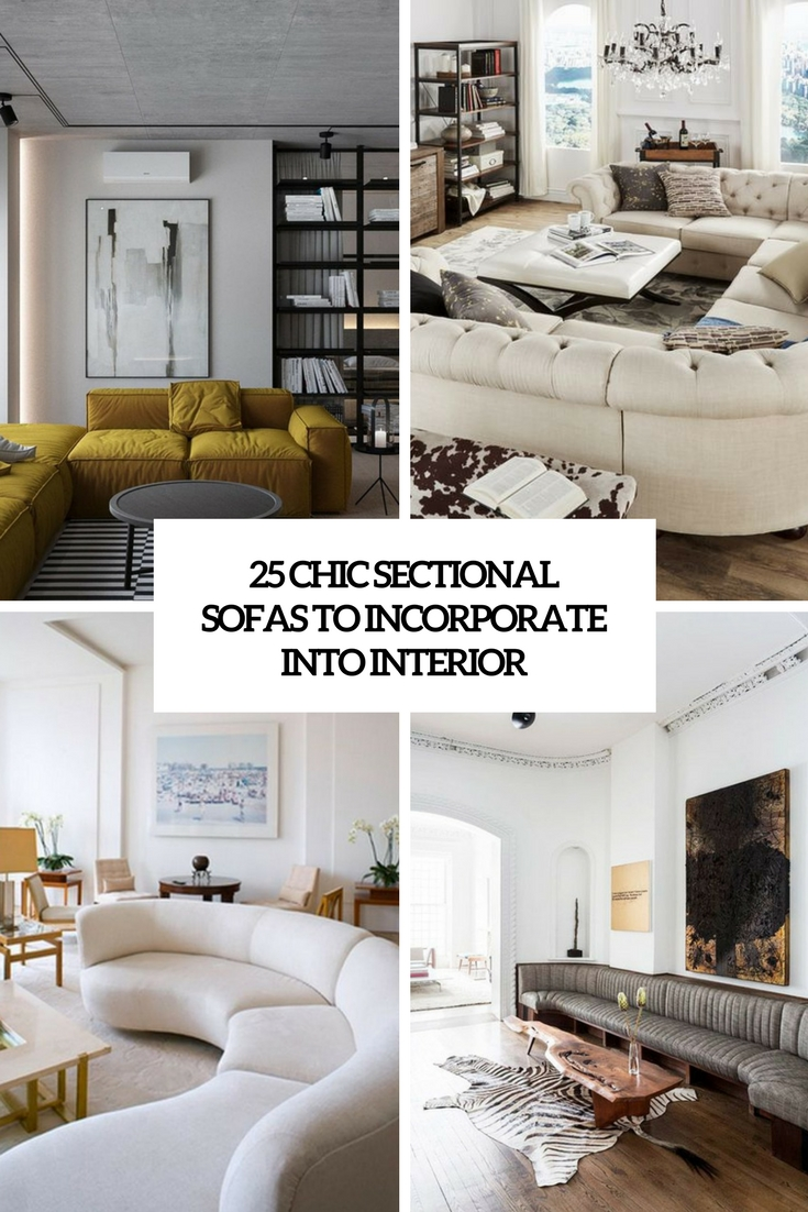 chic sectional sofas to incorporate into interior cover