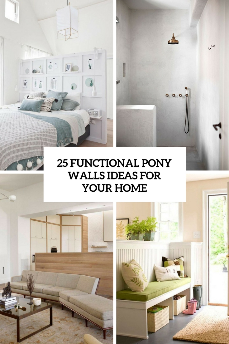25 Functional Pony Walls Ideas For Your Home