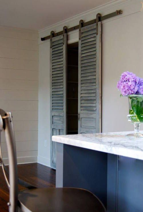 sliding shutter doors are sure to give your space a character and a vintage feel
