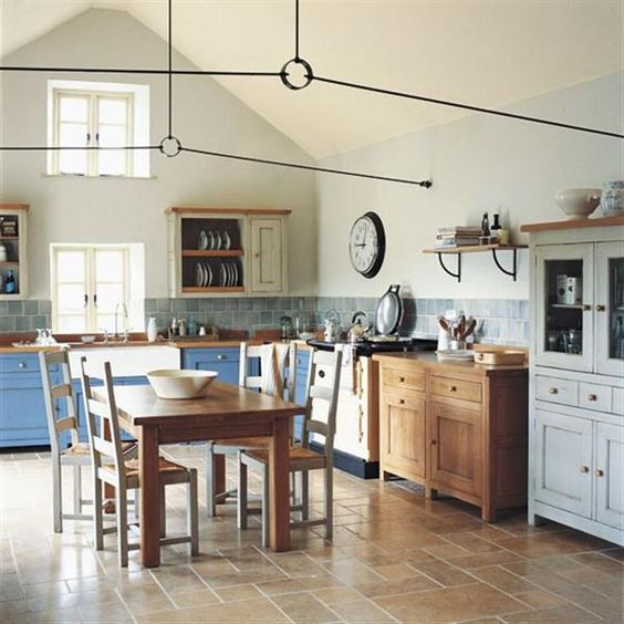 traditional kitchens also look nice with freestanding cabinets and it's easy to wash under them