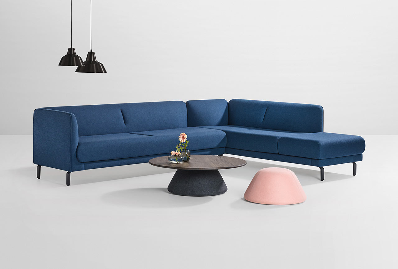 Figura sofa is a 21st century take on a traditional piece of furniture