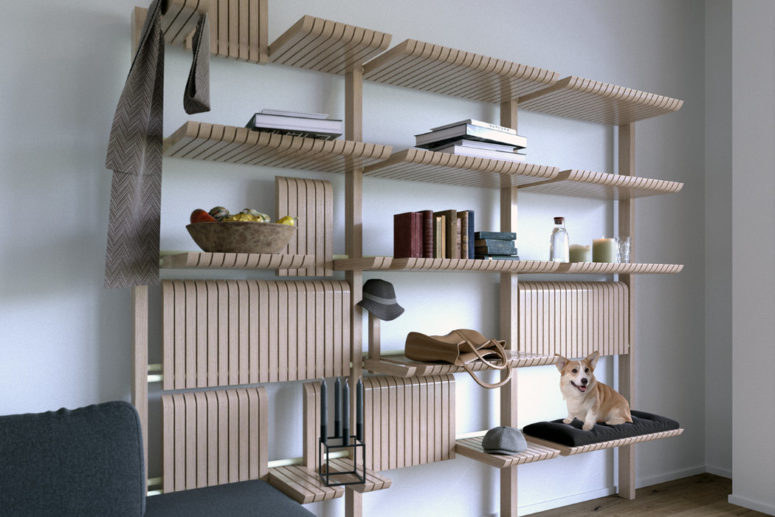 Highly Adaptable GATE Shelving Unit
