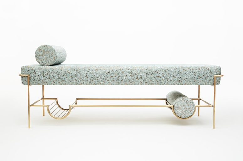 Sophisticated Furniture Collection With Terrazzo Fabric
