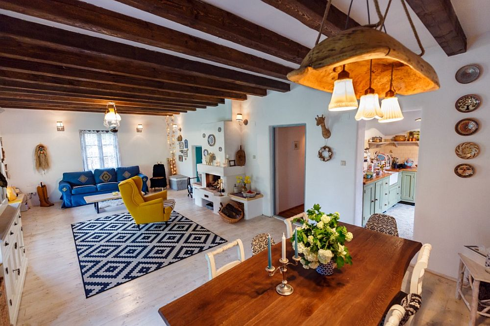 This amazing colorful home is filled with bold touches and breathes with traditional Romanian culture, which makes it so special