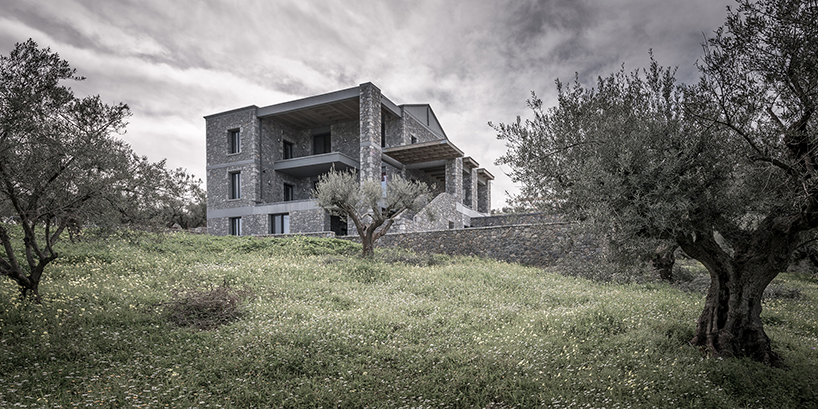 This beautiful home is standing in an olive grove on the outskirts of one of Greek cities