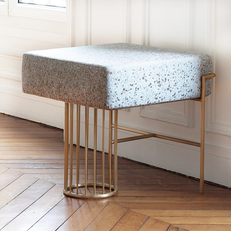 The Premonitions stool is a timelessly elegant and gorgeous furniture piece, which is soft and comfy though reminds of stone
