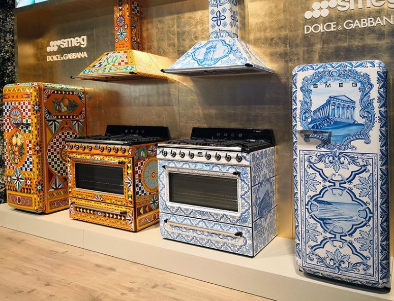 There's a blue and orange range inspired by traditional ceramics from Sicily