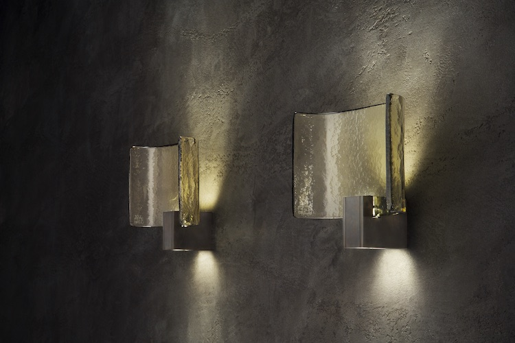 Beam is a gorgeous curved lamp of metal and Murano glass, and such lamps work better in clusters or groups