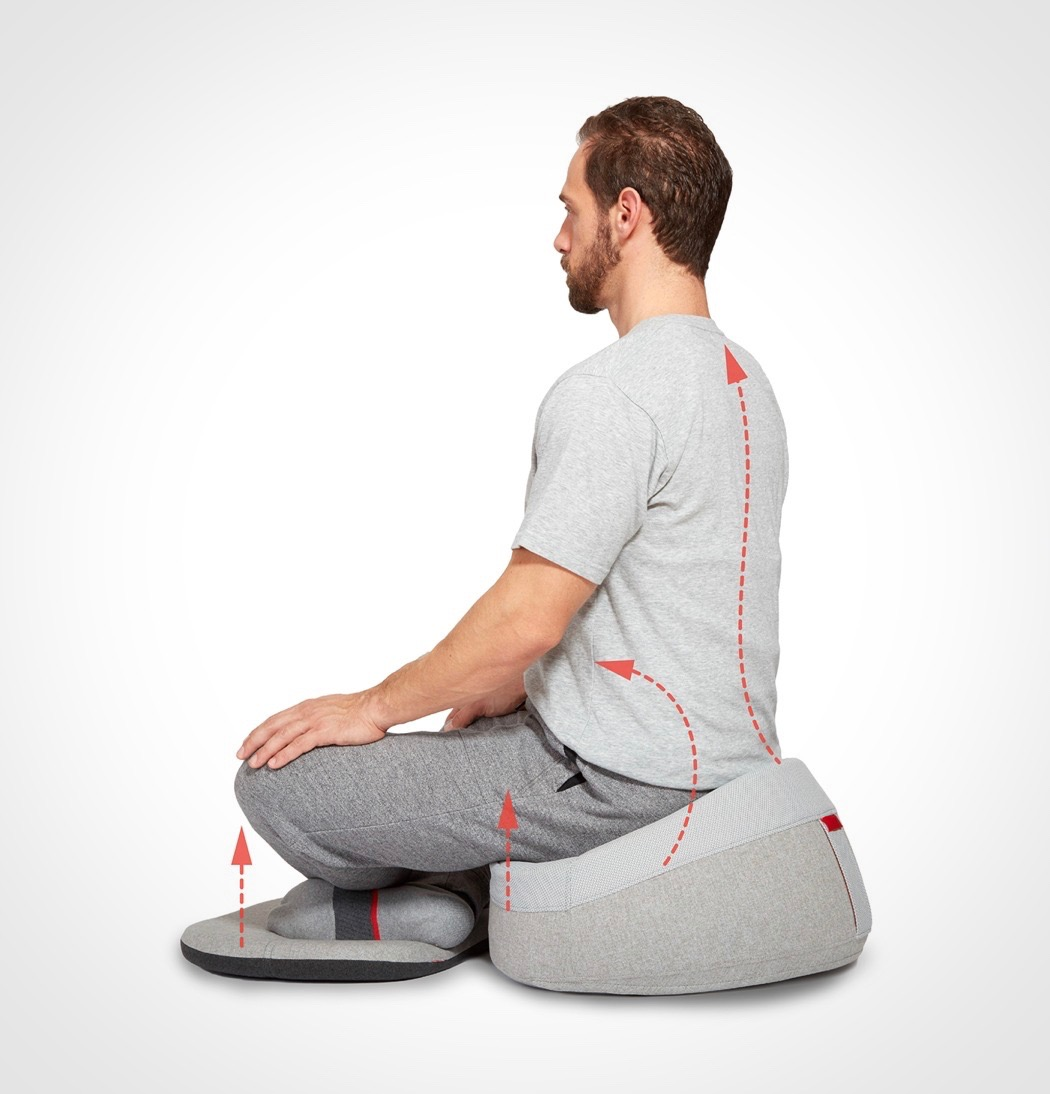 Your hips and back will be in the right position not to get tired