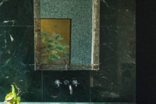 03 fabulous green marble sink with a minimalist design and matching green marble tiles for a stunning bathroom