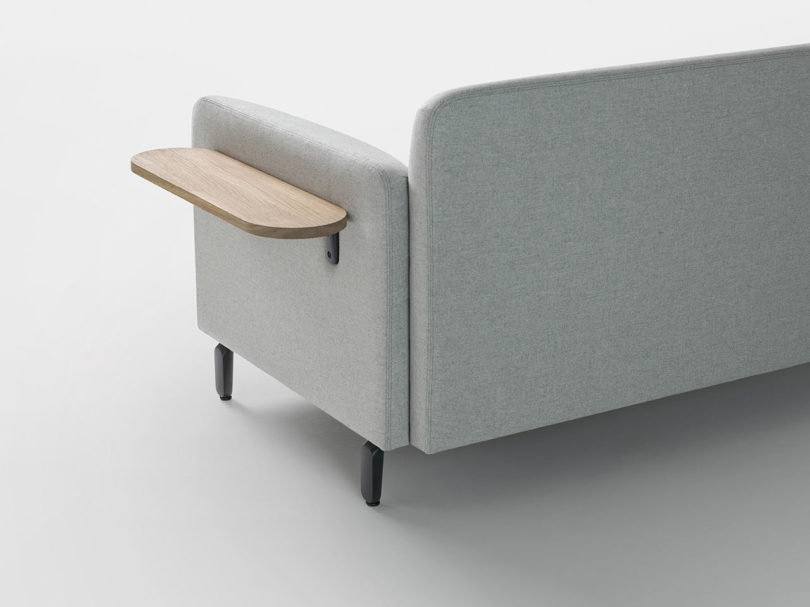 Choose various armrests and their height and also additional small shelves to attach