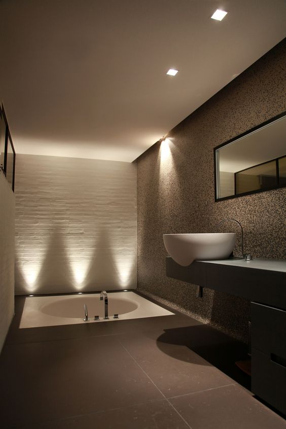 though ambient light here isn't bright, the bathtub space is additionally illuminated