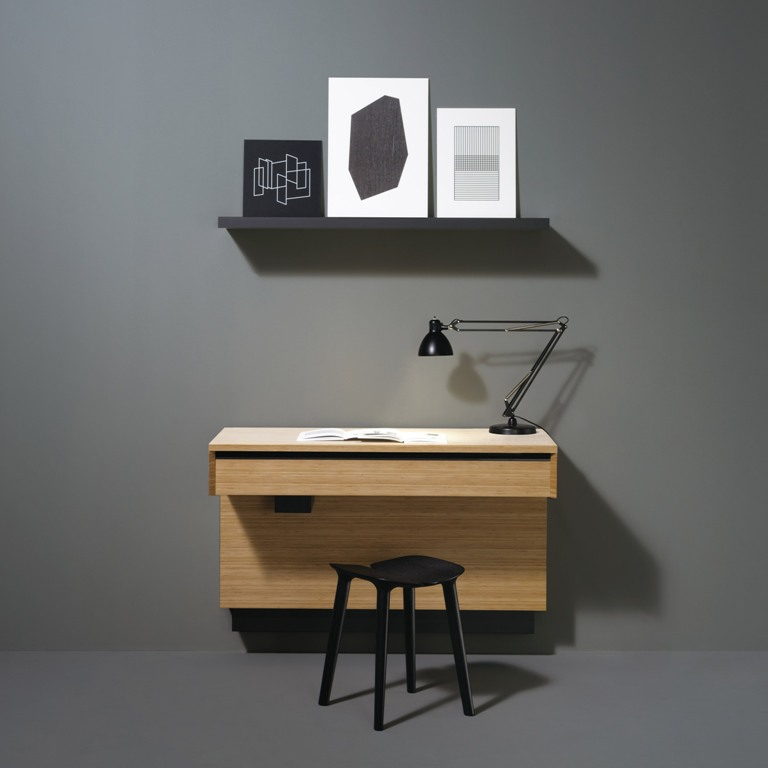 AC 01 isn't only a kitchen but also a wall mounted desk and a shelf