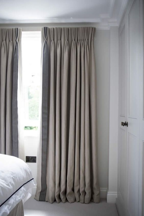 Neutrals are the best color option for curtains because they are timeless and don't fade