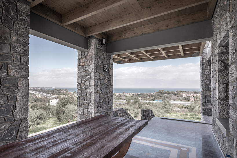 The western veranda overlooks the Corinthian Bay