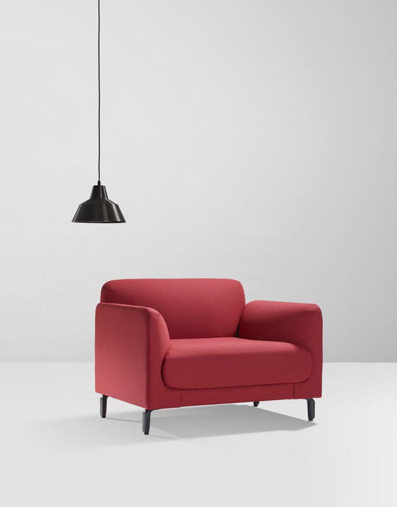 part of a sofa as a chair