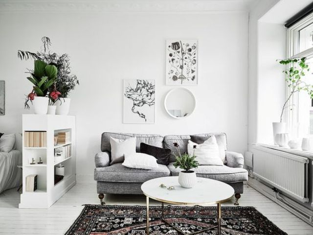 if it's a Scandinavian space, the main color will be white and may be grey