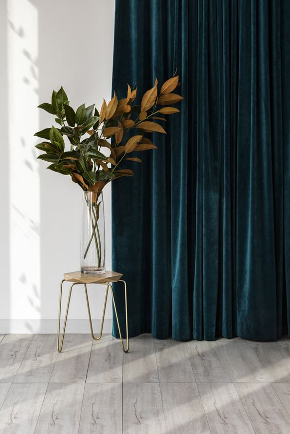 Velvet and other heavy fabric guarantee blocking all the light and giving you full privacy