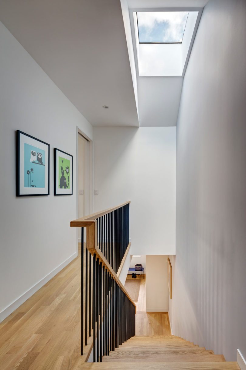 I love the idea of skylights to add natural light to the spaces, which could be dark without them