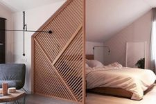 geometric screen room divider