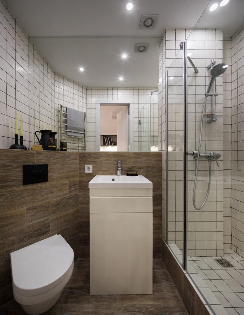 wood clad bathroom design