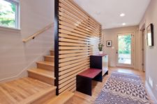 10 a horizontal wooden plank screen is what you need to avoid a bulky look and make the space airier