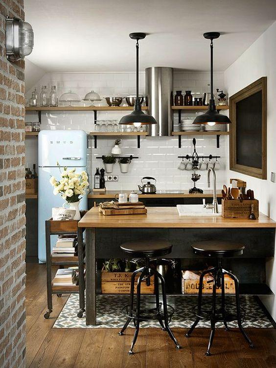 25 Industrial Kitchen Islands To Make A Statement
