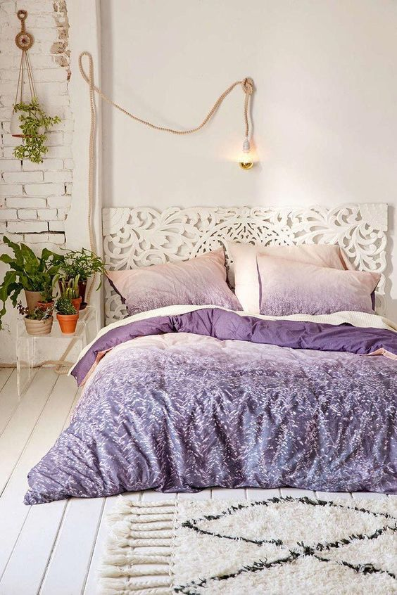 if you think, ultra-violet is too much, rock just a bedding set in this color and keep all the rest neutral
