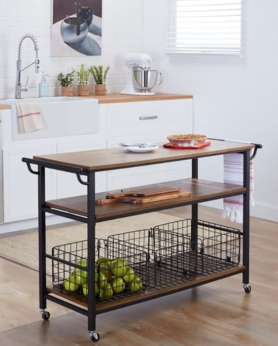 Portable Kitchen Island Style: 25 Industrial Kitchen Islands To Make A Statement