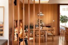 15 such a slight wood room divider is great to gently hint on the separation of the living and dining rooms