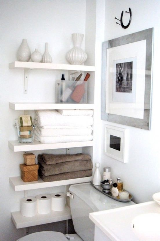 built in shelves in a very tight space save the deal
