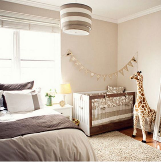 even a small bedroom can accomodate a nursery nook - place a crib and some toys in the corner and add lights