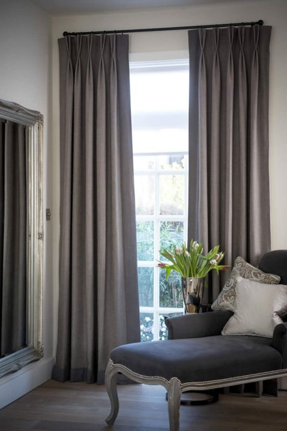 Pinch pleated curtains are know as one of the best options for formal decor styles