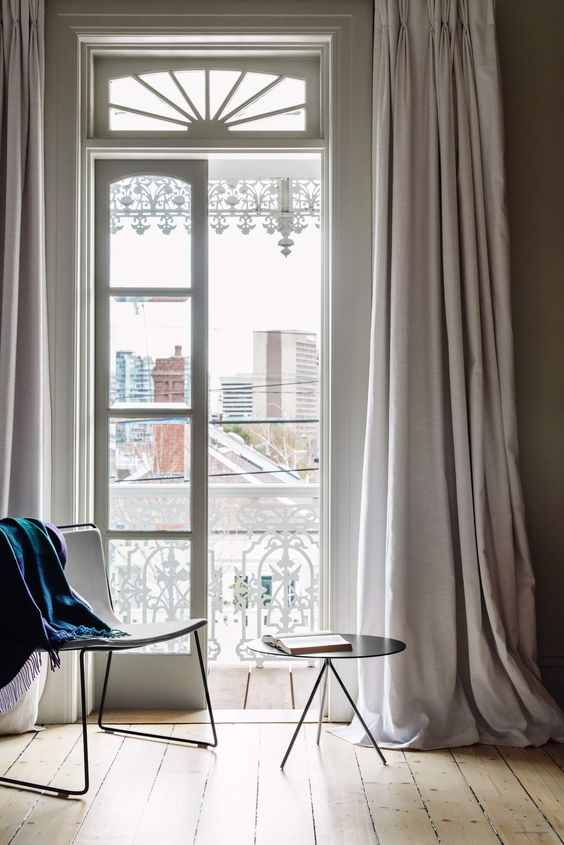 Add a luxurious touch to your space with such curtains