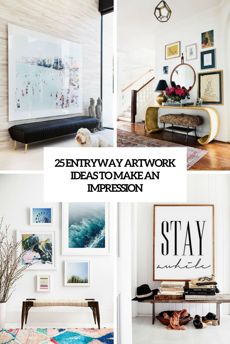 25 Entryway Artwork Ideas To Make An Impression