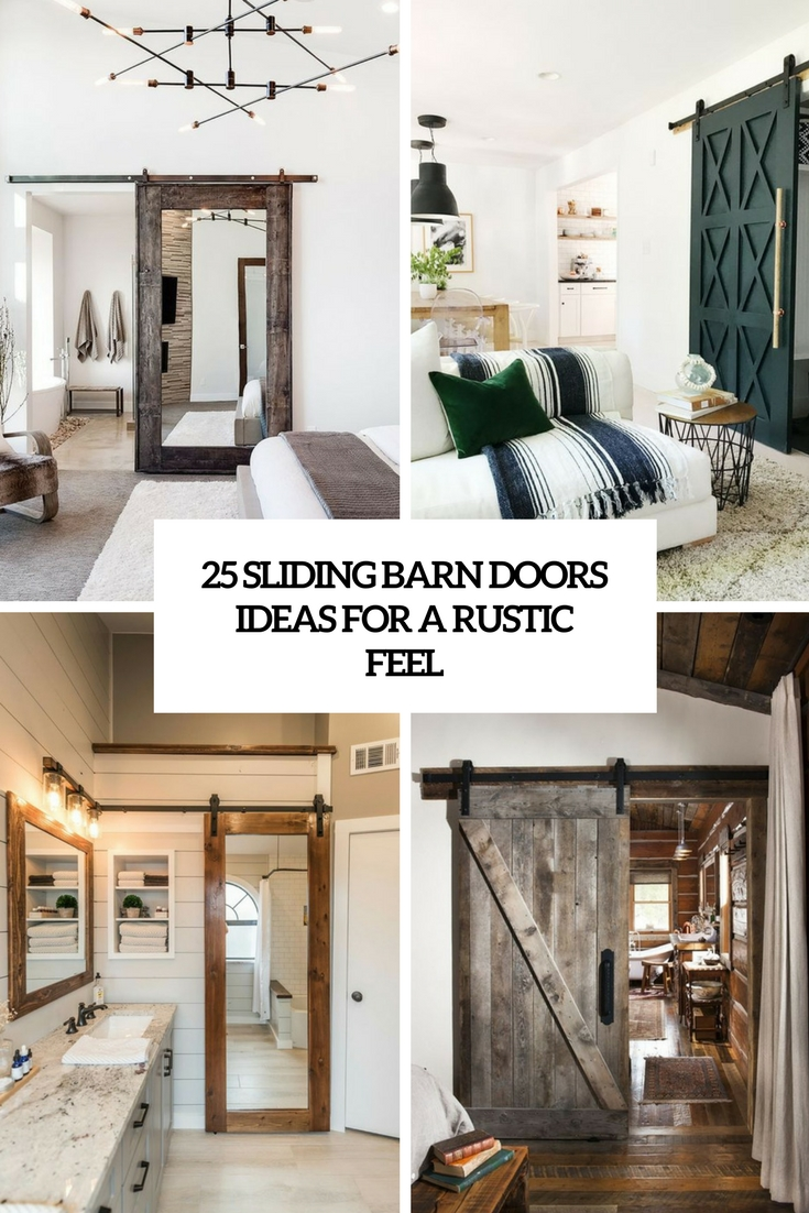 sliding barn doors ideas for a rustic feel cover
