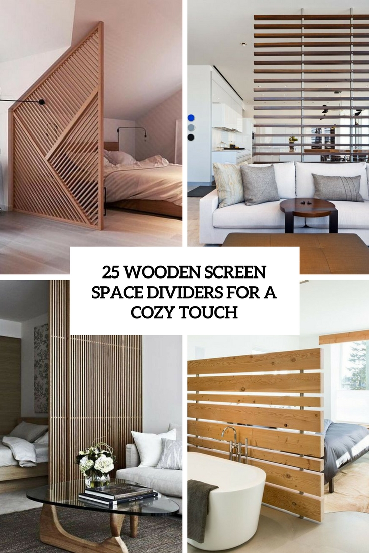 wooden screen space dividers for a cozy touch cover