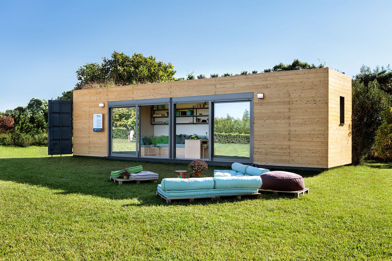 Cocoon Module homes are made of shipping containers and are perfect for nomads or those who want a vacation home