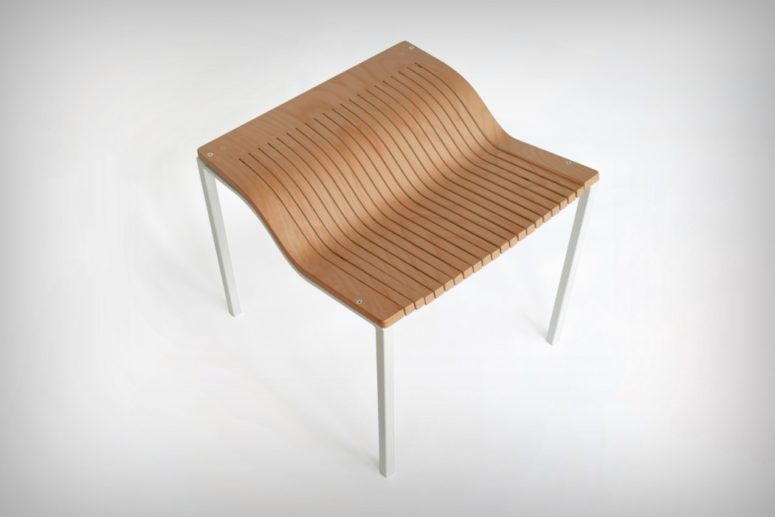 The Karekla is a modern chair done fully of plywood but it's made comfortable for sitting