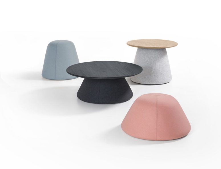 Terp Tables And Poufs By Dutch Mounds